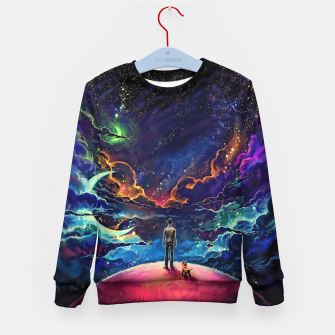 Man dog space Kid's sweater thumbnail image