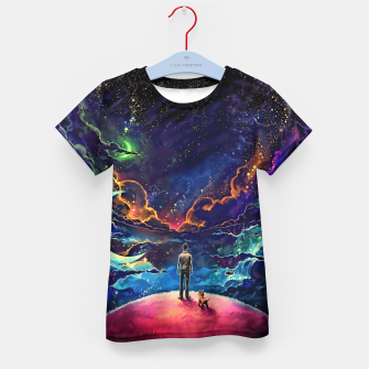 Man dog space Kid's t-shirt thumbnail image