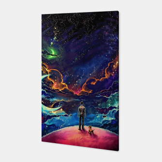 Thumbnail image of Man dog space Canvas, Live Heroes