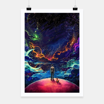 Thumbnail image of Man dog space Poster, Live Heroes