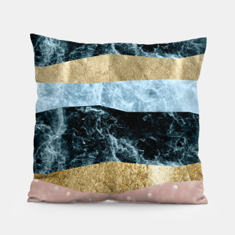 Miniaturka Blue Ocean Waves #1 #abstract #decor #art Kissen, Live Heroes