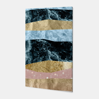 Miniaturka Blue Ocean Waves #1 #abstract #decor #art Canvas, Live Heroes