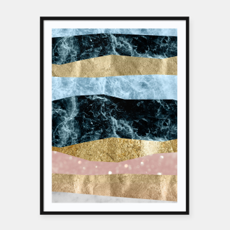 Miniaturka Blue Ocean Waves #1 #abstract #decor #art Plakat mit rahmen, Live Heroes