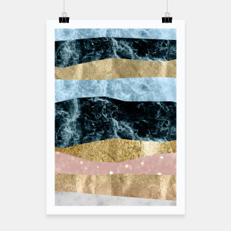 Miniaturka Blue Ocean Waves #1 #abstract #decor #art Plakat, Live Heroes
