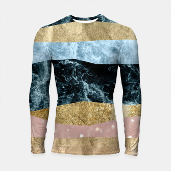 Miniaturka Blue Ocean Waves #1 #abstract #decor #art Longsleeve rashguard, Live Heroes