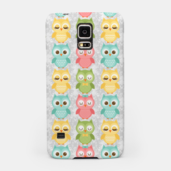Owl Pattern Samsung Case miniature