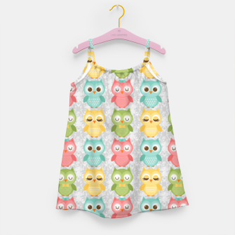 Owl Pattern Girl's dress miniature