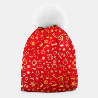 Thumbnail image of XmaS Pattern Beanie, Live Heroes