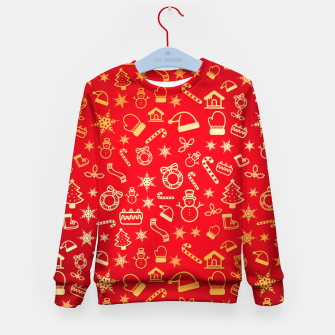 Thumbnail image of XmaS Pattern Kid's sweater, Live Heroes