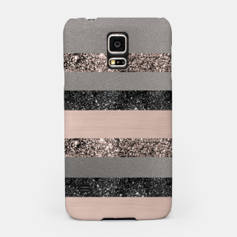 Thumbnail image of Blush Glitter Glam Stripes #1 #shiny #decor #art Handyhülle für Samsung, Live Heroes