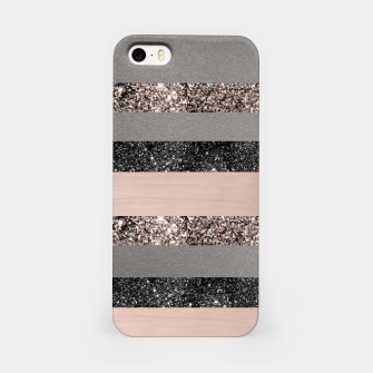 Thumbnail image of Blush Glitter Glam Stripes #1 #shiny #decor #art iPhone-Hülle, Live Heroes