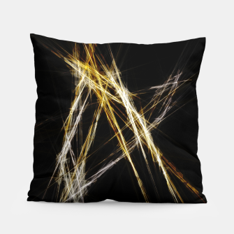 Abstract 2 - Gold & Silver LowPoly Kissen miniature