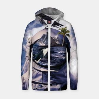 Thumbnail image of Island Zip up hoodie, Live Heroes