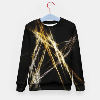 Miniatur Abstract 2 - Gold & Silver LowPoly Kindersweatshirt, Live Heroes