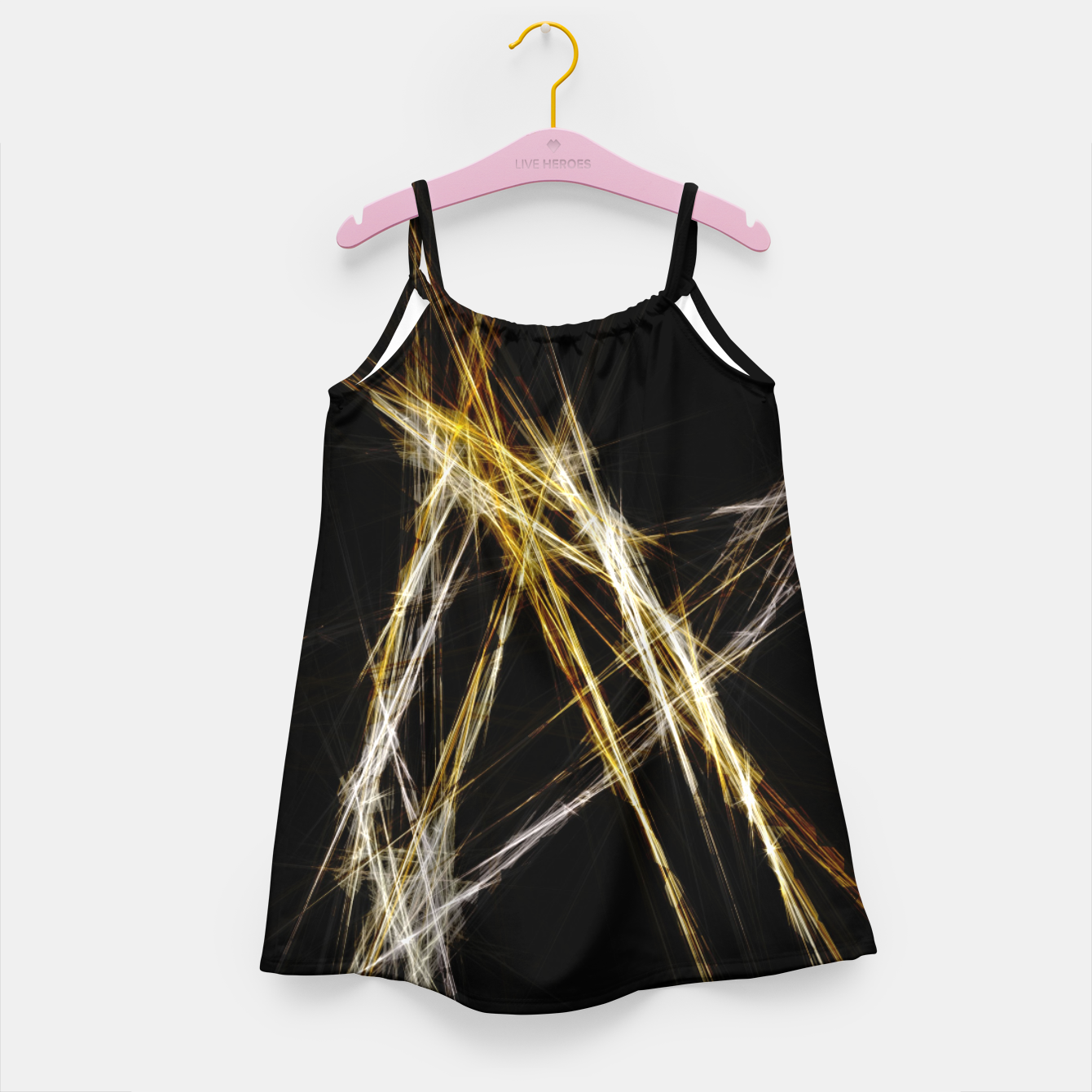 Image de Abstract 2 - Gold & Silver LowPoly Mädchenkleid - Live Heroes