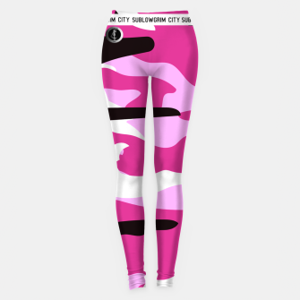 Thumbnail image of SublowGrim City Pink Camo Leggings, Live Heroes