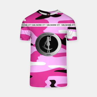 Thumbnail image of SublowGrim City Pink Camo T-Shirt, Live Heroes