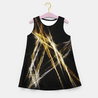Thumbnail image of Abstract 2 - Gold & Silver LowPoly Mädchen-Sommerkleid, Live Heroes