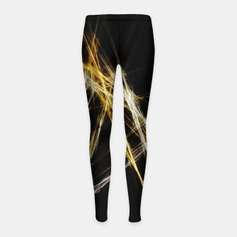 Miniatur Abstract 2 - Gold & Silver LowPoly Kinder-Leggins, Live Heroes