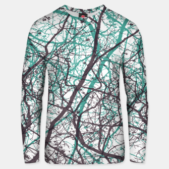 Miniaturka Branches purple mint Unisex sweater, Live Heroes