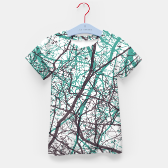 Miniaturka Branches purple mint Kid's t-shirt, Live Heroes