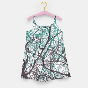 Miniaturka Branches purple mint Girl's dress, Live Heroes