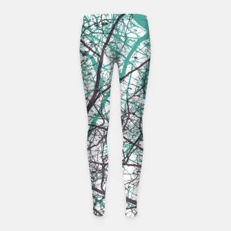 Miniaturka Branches purple mint Girl's leggings, Live Heroes
