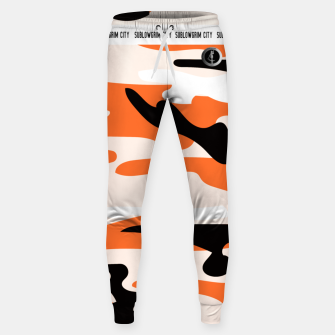 Thumbnail image of SublowGrim City Orange Camo Tracksuit Bottoms , Live Heroes