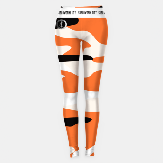 Thumbnail image of SublowGrim City Orange Camo Leggings , Live Heroes
