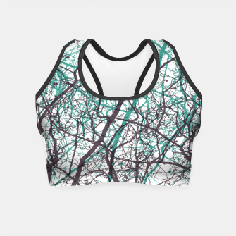 Miniaturka Branches purple mint Crop Top, Live Heroes