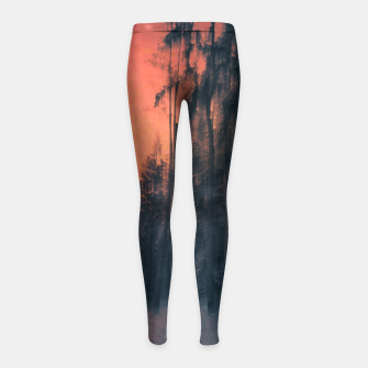 Miniatur Fire in the sky Girl's leggings, Live Heroes