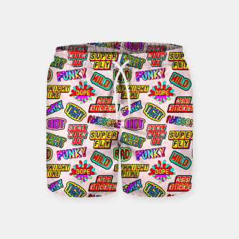 Thumbnail image of Funky pattern #08 (dope, straight fire, funky, hot, deal with it, crazy, awesome, etc) Swim Shorts, Live Heroes