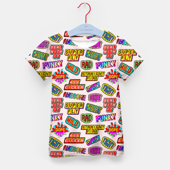 Thumbnail image of Funky pattern #08 (dope, straight fire, funky, hot, deal with it, crazy, awesome, etc) Kid's t-shirt, Live Heroes