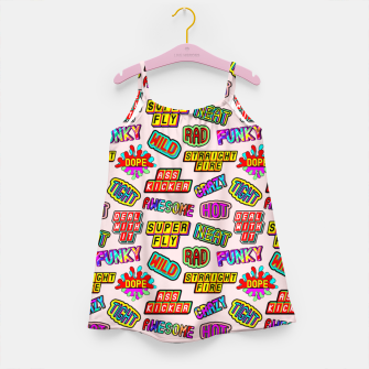 Thumbnail image of Funky pattern #08 (dope, straight fire, funky, hot, deal with it, crazy, awesome, etc) Girl's dress, Live Heroes