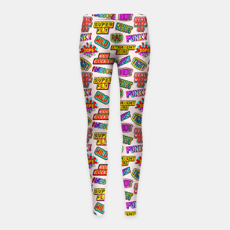 Miniaturka Funky pattern #08 (dope, straight fire, funky, hot, deal with it, crazy, awesome, etc) Girl's leggings, Live Heroes