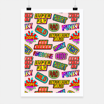 Miniaturka Funky pattern #08 (dope, straight fire, funky, hot, deal with it, crazy, awesome, etc) Poster, Live Heroes
