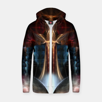 Thumbnail image of The Trilicon Zip up hoodie, Live Heroes