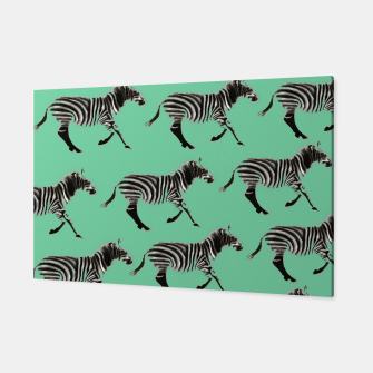 Thumbnail image of Zebra Pattern Canvas, Live Heroes