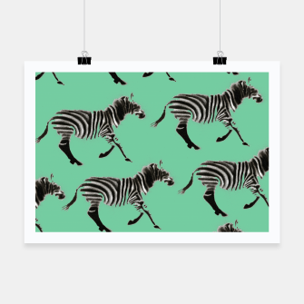 Thumbnail image of Zebra Pattern Poster, Live Heroes