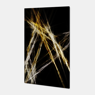 Miniatur Abstract 2 - Gold & Silver LowPoly Canvas, Live Heroes