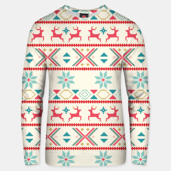 Thumbnail image of Fair Isle Knit retro colors Unisex sweater, Live Heroes