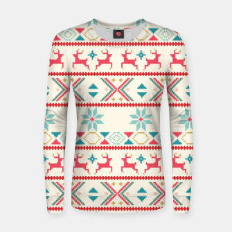 Thumbnail image of Fair Isle Knit retro colors Women sweater, Live Heroes