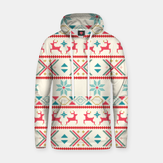 Thumbnail image of Fair Isle Knit retro colors Hoodie, Live Heroes