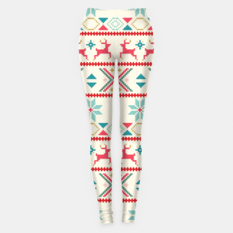 Thumbnail image of Fair Isle Knit retro colors Leggings, Live Heroes