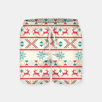 Thumbnail image of Fair Isle Knit retro colors Swim Shorts, Live Heroes