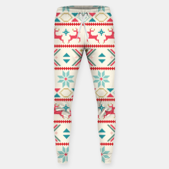 Thumbnail image of Fair Isle Knit retro colors Sweatpants, Live Heroes