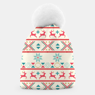 Thumbnail image of Fair Isle Knit retro colors Beanie, Live Heroes
