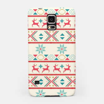 Thumbnail image of Fair Isle Knit retro colors Samsung Case, Live Heroes