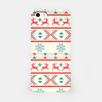 Thumbnail image of Fair Isle Knit retro colors iPhone Case, Live Heroes