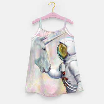 Thumbnail image of Unicorn and Astronaut Mädchenkleid, Live Heroes